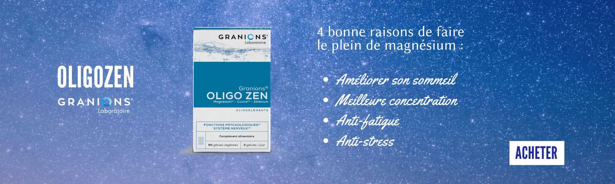 oligozen Granions pour faire le plein de magnésium pendant les révisions