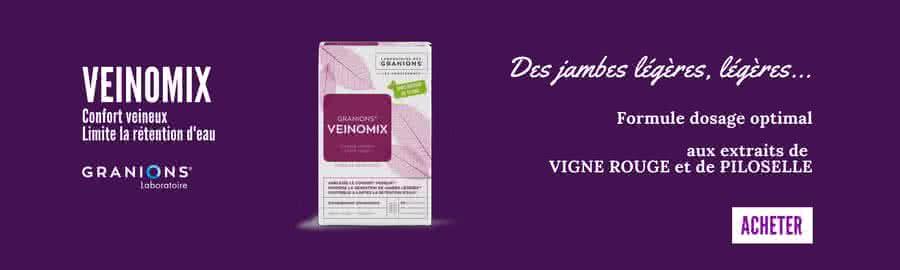 Veinomix : vigne rouge et piloselle pour soulager les jambes lourdes